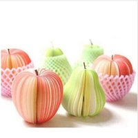 Wholesale 140 sheeets Stationery Creative DIY Pear Notes Paper Notes Fruit Notes Paper Sticky SN040