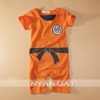 Wholesale Dragon Ball Goku KungFu Jumpsuit Baby Toddler Fancy Dress Costume Outfit Romper