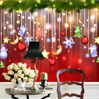 angle wallpapers - Christmas decoration Wallpaper Lovely Photo wallpaper Custom D Mural Waterproof Silk Art Boys Kid Girl Bedroom Bar Room decor Angle Snowman