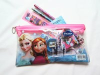 office stationery set - 2014 factory price Frozen stationery set for Students Office School Supplies Frozen Pencil Cases Frozen Bags Frozen Ruler Frozen Pencils