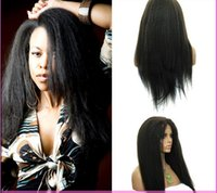 Wholesale Top Sale Full Lace Wig Human Hair Peruvian Virgin Hair Kinky Straight A Glueless Lace Front Wigs Hair Products