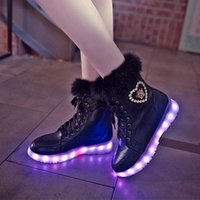 Wholesale New Luminous Sneakers women LED Night Light Boots Fashion Casual Chinese Facebook Sports Shoes For women size k1662
