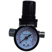 air pressure gage - Spray Gun Pressure Gauge Gage Air Control Compressor Pressure Regulating Regulator Valve Gauge Meter bar psi New