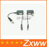 Wholesale BNC CCTV RJ45 Video Power Balun by UTP CAT5 Transmit Receiver Connector HZ