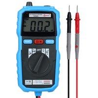 Wholesale Mini Pocket Counts LCD Digital Multimeter DMM DC AC Voltage Current Meter Diode Tester Auto Ranging Multimetro Bside ADM04 order lt no