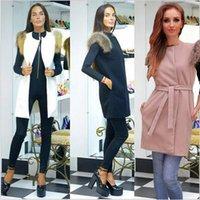 Wholesale Women Warm Vest Outerwear Coat Jacket Waistcoat Tops Winter Fashion Jacket Women Sleeveless Long Outwear
