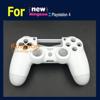 Cheap 5 set lot white original for Playstation 4 PS4 wireless controller housing shell case
