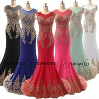 royal blue wedding dresses - 2015 Sheer Back Prom Evening Pageant Dresses Formal Wedding Party Gowns Lace Actual Image Red Black Royal Blue Arabic India In Stock Xu028