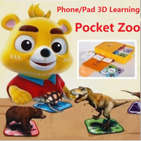 Wholesale New D Stereo Card Puzzle Toy Early Education Language Neobear Pocket Zoo for Children New AR Technology