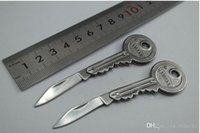 Wholesale Mini Folding blade Knife Key Pocket Knife Chain Knife Peeler Portable Camping Key Ring Knife Tools good gifts