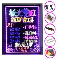 Wholesale LED fluorescent board fluorescent plate B electronic fluorescent board advertising board led fluorescent handwriting blackboard