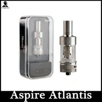 Wholesale 2015 ml Atlantis atomizer clearomizer Sub oHm Tank stainless steel Aspire Atlantis Tank clone With ohm BVC Coil in Stock