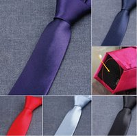 tie - Narrow version NeckTie Men s Tie custom made Colors cm NeckTie Leisure Arrow Necktie Skinny Solid Color Tie Free FedEx