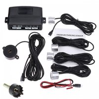 Wholesale 12V Auto Car Parking Sensor Reverse Backup Radar Parking Assist Sound Alert Sensors silver or Black Parking System