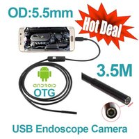 Wholesale Digital OTG USB Android Phone Endoscope mm OD Waterproof Snake Pipe Inspection Borescope Camera M Cable