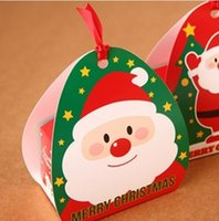 Wholesale 50 Xmas Candy Box Christmas Chocolate Cookie Bakery Gift Packaging Wrapping Box TL Q