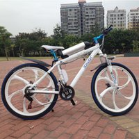 Wholesale Mountain bike electric aluminium alloy double disc brake v lithium battery electric bicycle battery car quality goods