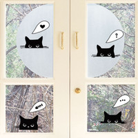 adhesive window signs - Window Glass Switch Decoration Art Decal Sticker Wifi Sign Lovely Cat Panda Decor Poster Flowers Sticker Decal Mix order for Home Decor