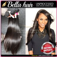 Straight outlet brazilian hair - Factory Outlet Price HairExtensions Human Hair Weave Silky Straight inch Malaysian Peruvian Indian Brazilian Hair Bella Hair