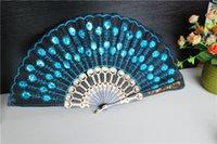 Wholesale Practice dancing seven wing chun fans Chinese wind series fan dance process White rose bud folding fan