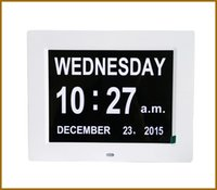Wholesale 2016 NEW TOP BRAND Fashion Day Date Time Clock For Vision Loss Digital Alarm Clock Led Digital Cocks For Elderly