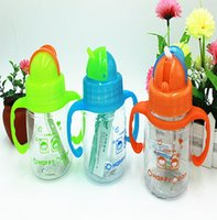 Wholesale Set of Creative Leak proof Straw Type Child Bottle Children Drinking Cups with Handgrip Dedicated Student Cup