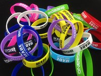 Wholesale 2015 High quality Bigbang MADE Silicone Bracelet Noctilucent Colorful Wristband Sport bracelets only bands no boxes package