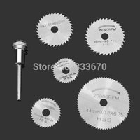 Wholesale 6pc Circular HSS Saw Blades Set For Dremel Rotary Tool Saw Disc Wheel Blade New