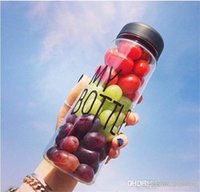 Wholesale Korea style new design Today s special plastic sports water bottle with words quot My bottle quot and a gift bags hot drinkware Lemon cup