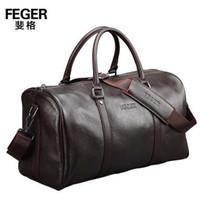 Wholesale new Genuine leather travel bag men duffel bag large capacity gym bag with shoulder strap