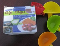 Wholesale 4pcs set Creative Cup Capacity Tiered Stand Assorted Colors Progressive Dip Clip