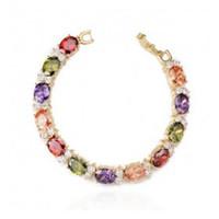 Wholesale luxury tennis zircon AAA bracelet gold color or silver color bracelet with inlay elegant crystal bracelet