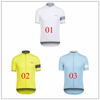Wholesale 2015 rapha Cycling tops white yellow blue colors size XS XL Short Sleeve bike clothing Road Bicycle Wear cycling jerseys top