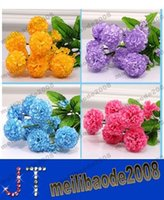 large silk flowers - 38cm Length Large Small heads piece Silk Hydrangea Bunch for Wedding Home Party Artificial Decorative Flowers MYY15388