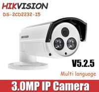 Wholesale DS CD2232 I5 Hikvision P POE outdoor IP Camera MP bracket English version m IR Range Bullet Waterproof Camera