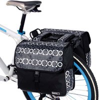 bicycle backpack rack - ROSWHEEL Brand L Cycling Bicycle Double Side Bag Bike Rear Rack Tail Seat Pannier Bag Waterproof Backpacks