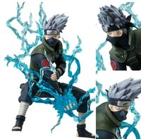Wholesale 2015 Anime Naruto Ninja Copiador Hatake Kakashi with Lightning Blade PVC Action Figure Collection Model Toy