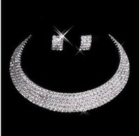 man made diamond - 2016 Designer Sexy Men Made Diamond Earrings Necklace Party Prom Formal Wedding Jewelry Set Bridal Accessories In Stock