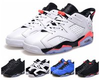 Wholesale New Retro Low White Infrared Black Chrome Oreo Blue Men Basketball Shoes VI Sports Shoes s Basketball Sneakers For Sale US8