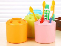 Wholesale 2016 Toothbrush holder Racks stylish contrast color creative multifunctional classification of Candy colored plastic toothbrush holder