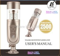 electric sex toys - New Easy Love Telescopic Lover Automatic Sex Machine Rotating and Retractable Electric Male Masturbators Sex Toys for Men