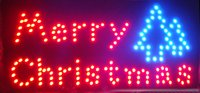 animated running - Merry Chirstmas LED Open Sign Rushed Sale Graphics Animated Motion Running Inch Indoor