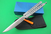 Wholesale Promotion Butterfly BM62 HRC Balisong tactical Single Edge Outdoor Tactical folding knife gift knife knives new in original box