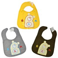 Wholesale Toddler Baby Infants kids bibs lunch Bear Pattern soft Saliva towel Colors Polyester Cotton