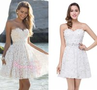 Scoop 3d pictures - 2016 Designer New Cocktail Dresses Sweetheart Lace Short Mini D Floral Beaded Homecoming Gowns Party Dresses BZP0838