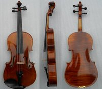 Wholesale New Arrival Handmade Alcohol Paint Viola Senior Entire Board Maple Viola With Clearly Tiger Stripe