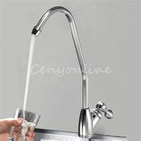 cinnamon - Singl Handle Sliver Chrome Finish Reverse Osmosis Drinking Water Power Filter Kitchen Sink Faucet Tap
