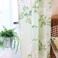 Wholesale Factory direct semi shade garden small fresh small and processing high grade curtain fabric