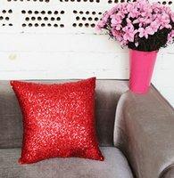 Wholesale Fashion Home Room Sofa Throw Pillowcase Pillow Cushion Cover Zipper Pillow Case Sequins Pillowcases