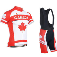 Wholesale Cycling jersey national Canada team red clothing Pro Cycling maillot cycliste ropa ciclismo roupas cyclist Mountain Bike Equipment